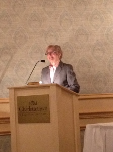 Maude Barlow speaking about protecting the water of PEI