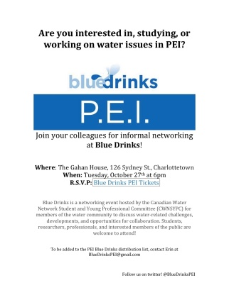 PEI Blue Drinks - October 27